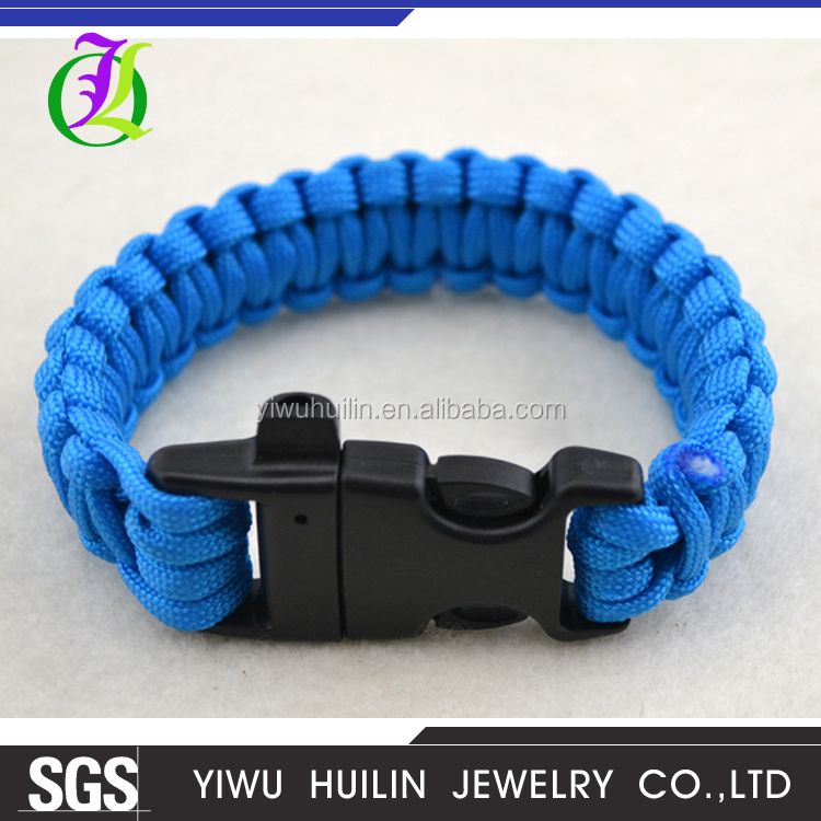 B105 Yiwu Huilin Jewelry Wholesale fashion outdoor umbrella rope bracelet emergency lifeline handcrafted bracelet