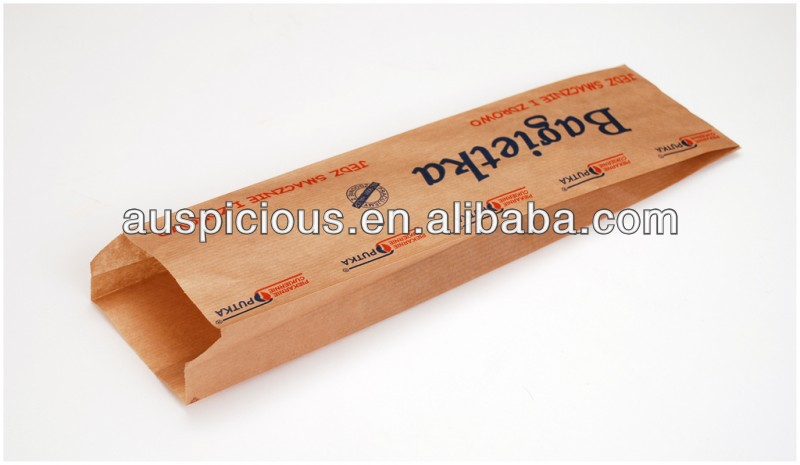 Onion Loaf bakery bread paper bag brown paper bag
