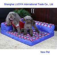China manufactory newly design red check dog sofa pet bed resin egg shaped dog house