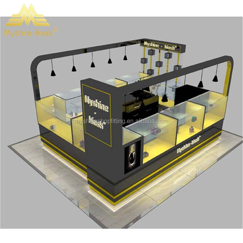 Design Modern interior wood perfume kiosk for mall