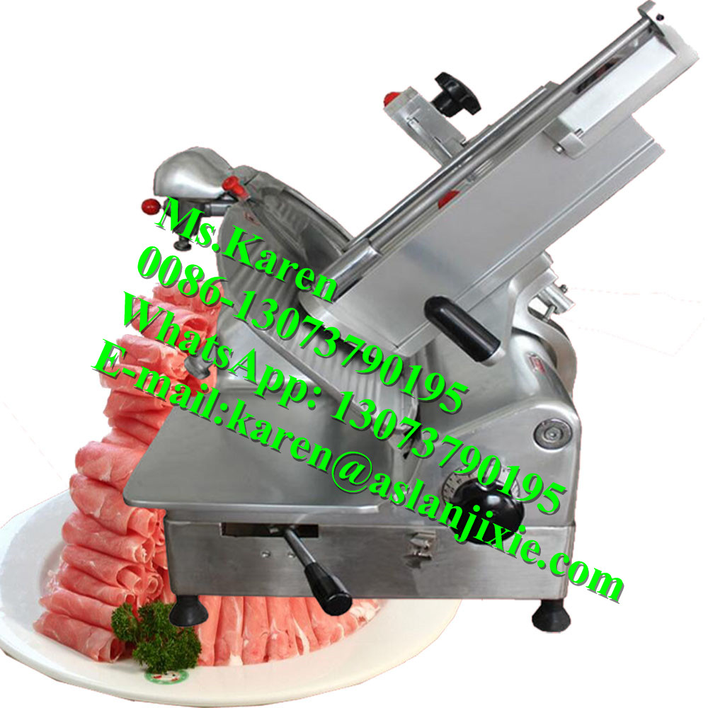 Electric meat slicing machine / Frozen meat slice cutter / Mini frozen meat slice cutting machine