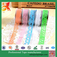Custom high quality paper Christmas washy tape pattern DIY tape Lace Adhesive Tape