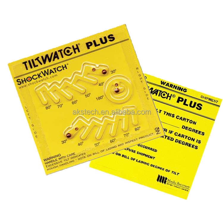 correct indication of Tilt watch Plus labels for package