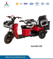 Lesirure and Shopping Cargo Electric Tricycle With Passenger Seats