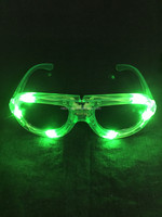 party itemsGreen color LED cool fashion rave LED light up RayBan Frames sunglasses glow in the dark