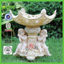 New Two Angel Resin Fruit Bowl Beauty Home Decor Ornament