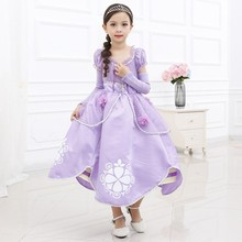 Princess Sophia Costume Christmas Party Dress Girls Cosplay Party Wear D036