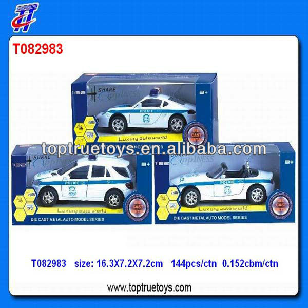1:32 DIE-CAST PULL BACK POLICE CAR W/LIGHT,SOUND