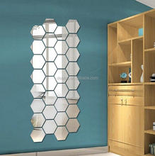 DEMI Wholesale removable mirror home decor acrylic 3d wall sticker