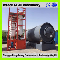 Elertric heating system plastic scrap recycling plant with 50% high oil yield no pollution