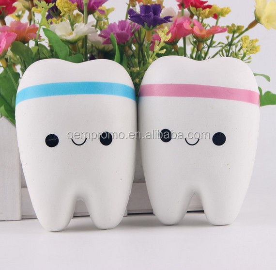 11cm Jumbo Squishy Slow Rising Teeth Soft Squeeze Toy