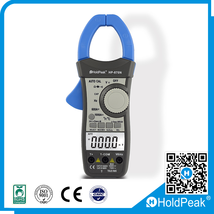 Auto Range DC AC Digital Clamp Meter Multimeter True RMS Frequency