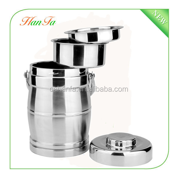 Drum and Pillar Shape stainless steel food carrier / double wall thermal food container