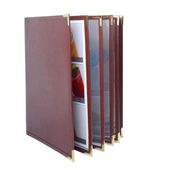 2017 Customized Restaurant Menu Covers, Faux Leather menu holders wholesale Accept OEM Order