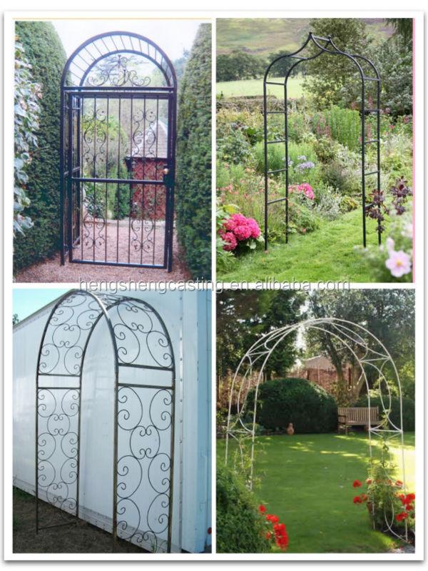 Decorative Artistic Wrought Iron Arch Garden Arch Rose