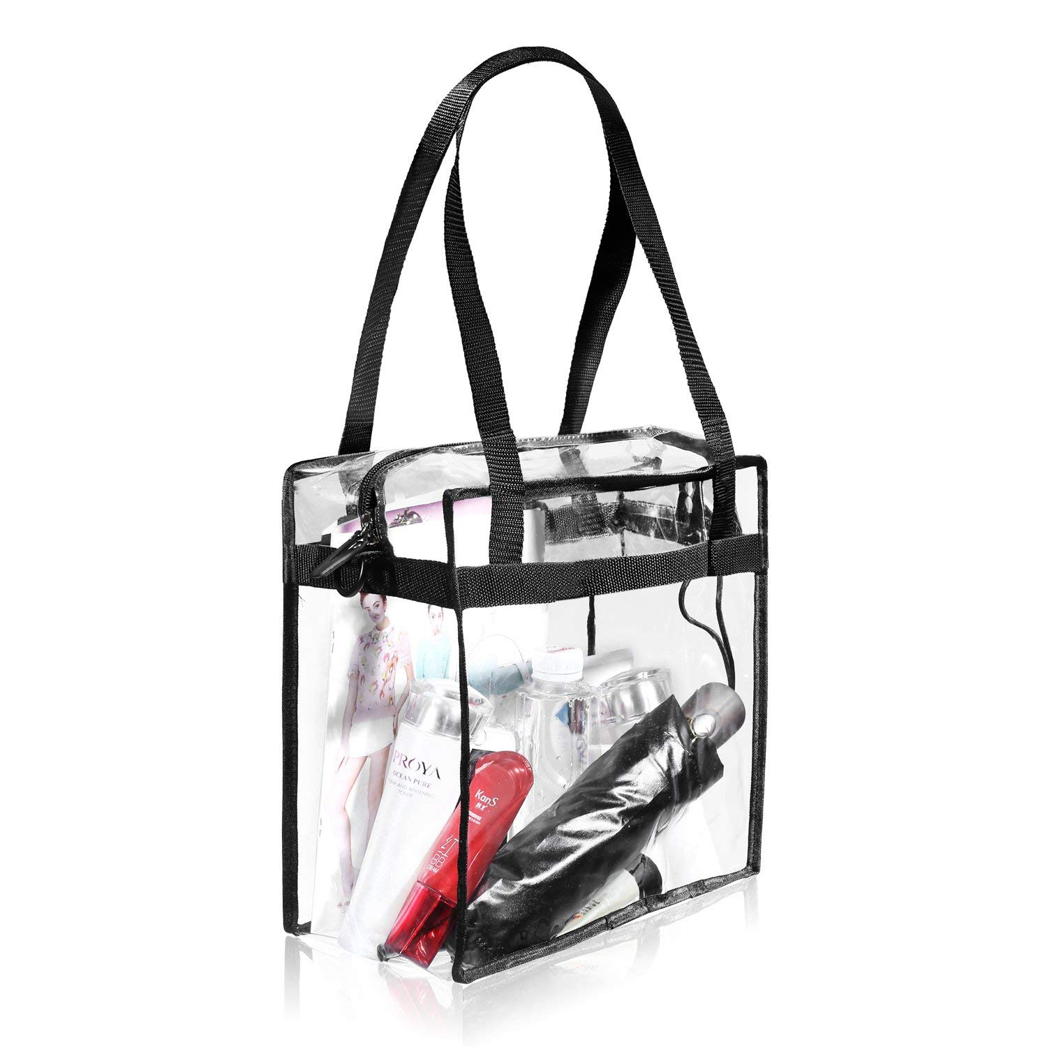 The Clear Tote Bag with Zipper