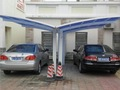 price for aluminum 2 car parking canopy with polycarbonate roof