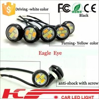 2015 new model !! Dual mode eagle eye Car Led Daytime Running Light 23mm COB Car eagle eye projector headlight