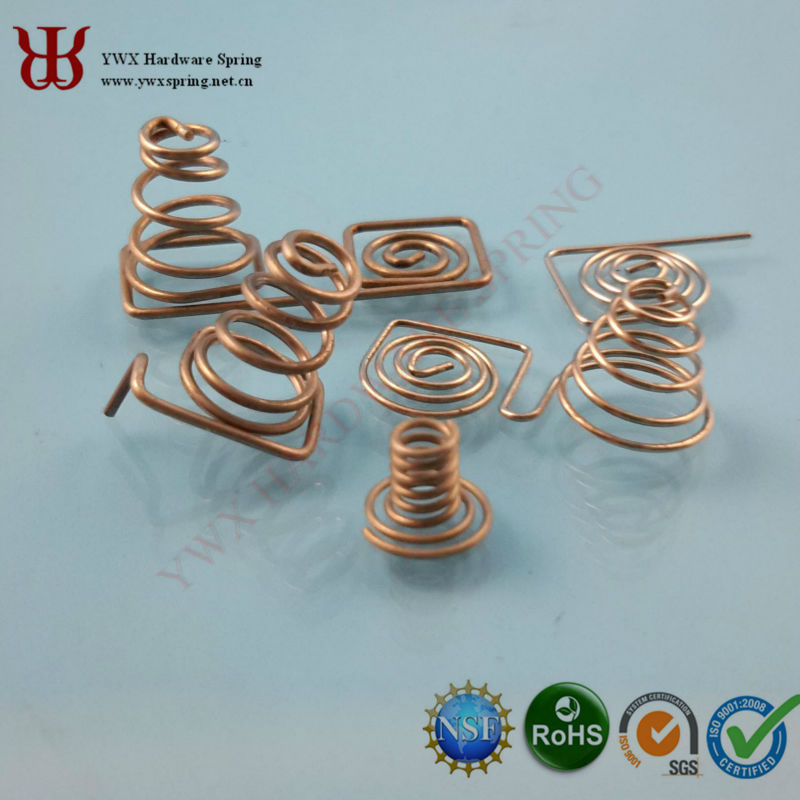 China high quality coil springs for battery copper contact springs