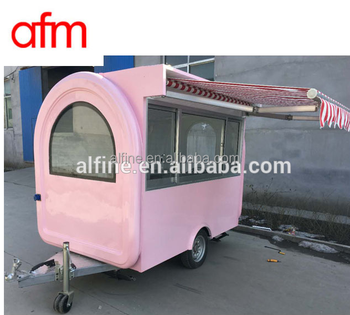 2016 china mobile hand push food cart for sale