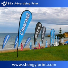 Factory Direct Custom wholesale UV waterproof Beach Feather Flag