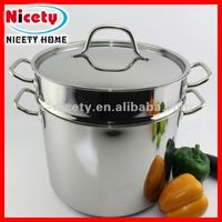 stainless steel chocolate melting pot / large double boiler / stocked double boilers