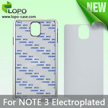 Best Selling sublimaiton electroplated cell phone cover for Samsung Note 3
