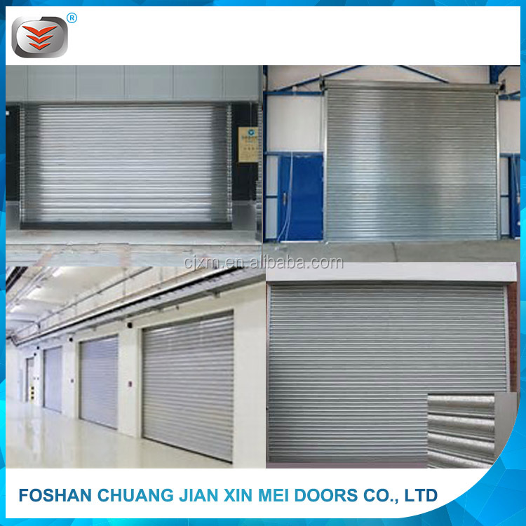 Colorful and Strong Galvanized Steel Metal Remote Roll Up Shutter Exterior Door