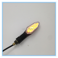 Supermoto Motorcycle Handle Bar End 12V LED Turn Signal Light Blinker Amber