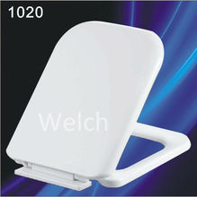 1020 soft closed plastic square shape toilet seat cover