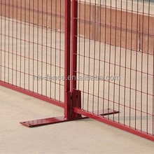 Construction civil works barrier,interlocking temporary security fence with galvanized steel foot for dog runs(6X9ft)