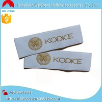 garment labels and printed label, brand name 100% polyester fabric woven label for clothing