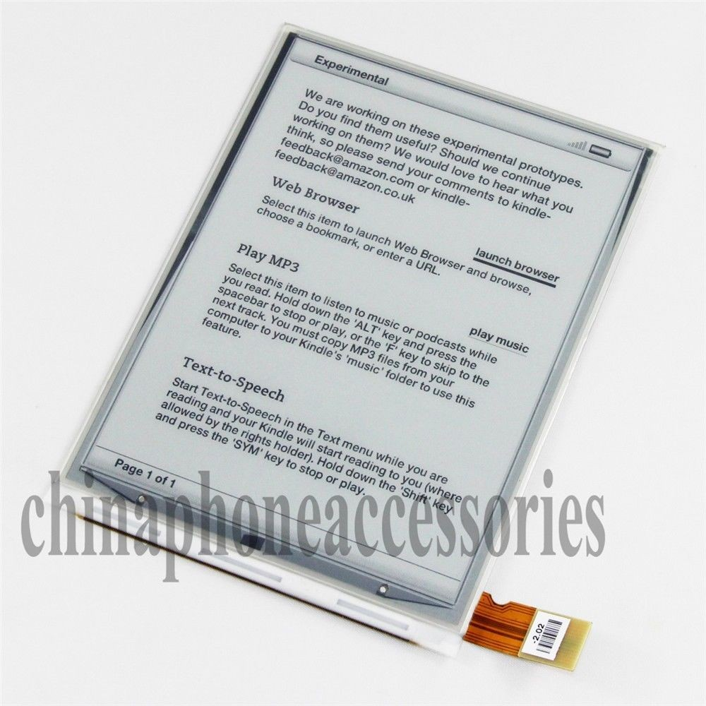 6 Inch LCD Display E-ink Screen ED060SCE(LF)C1 For Sony PRS-T1 NOOK (W/O IC Con)