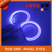 High Brightness 5050/5060 SMD RGB Color Changing LED Angel/Eagle Eyes Headlights with RF Remote RGB SMD Angel Eyes for all cars