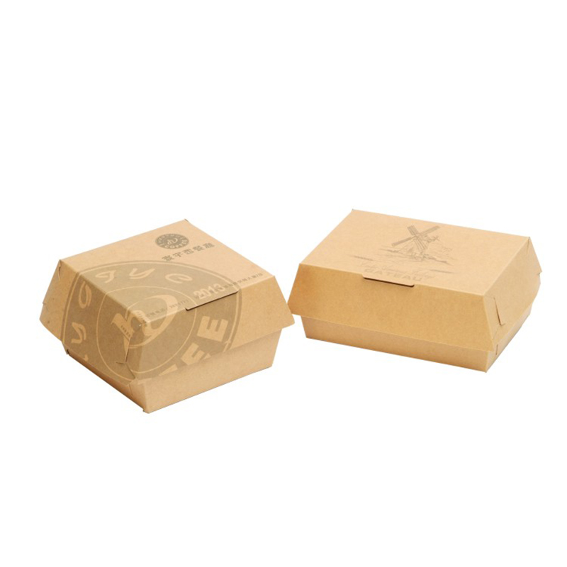 VIP Hamburger packaging boxes for double pieces burgers