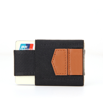 Elastic Wallet For Men Front Pocket Ultra Thin Slim Minimalist Smart Wallet