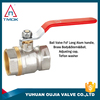 brass ball valve long handle nickel plating or no plating lead free manufacturer in china supply