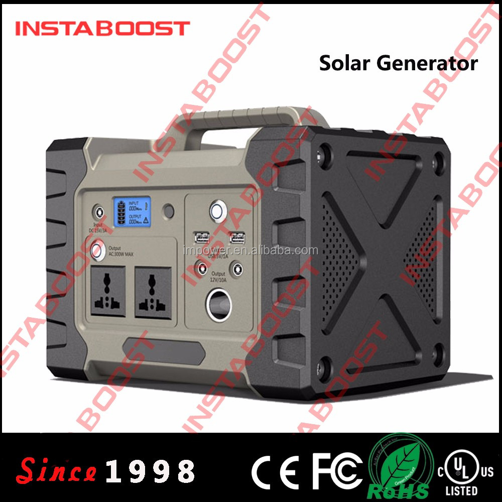 INSTABOOST 110V/220V 537Wh lithium ion battery solar generator with 300 inverter power station for home system