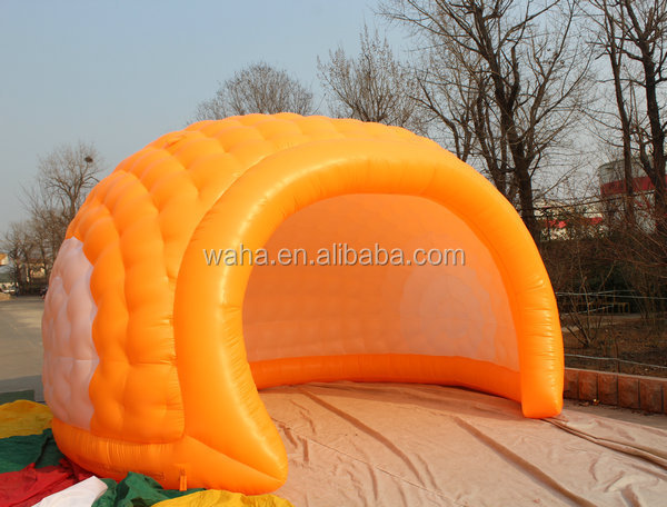 Semicircle indoor tents,,inflatable meeting space/event room/ tent with LED