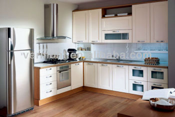 matt white laminated kitchen cabinet