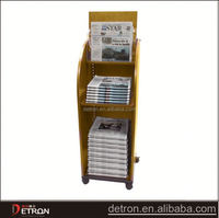 Wooden newspaper standing display stand