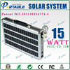 15W Portable solar power generator System with LED Lamp for Home Use