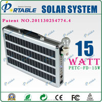 hottest selling ultra thin handle solar power system with AC and DC output for home and outdoor use