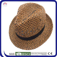 Colorful Small Fedora Straw Hat