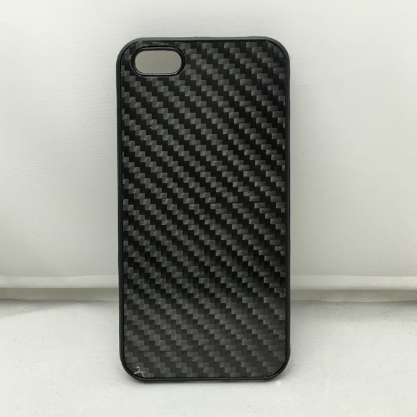 TPU+PC carbon fiber phone case solid black phone shell good quality back cover for iPhone 5