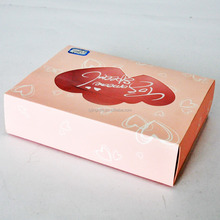 Quality custom fancy cake paper box with transparent window