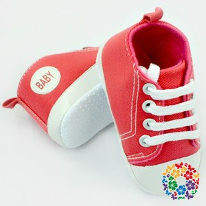 New Baby Girls Infant First Step Crib Shoes Soft Sole Slip-on Baby Kids Canvas Spanish Red Shoes Cool Sneaker For Baby