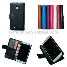 Nice Book style Leather Flip Cover Case for Samsung Galaxy S4 Mini, with Card Slots & Stand design