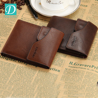 New Arrival PU Leather Men Wallets Black Brown Designer Hasp Coin Pocket Card Holder Purse Man