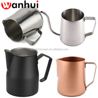 350/600/1000 ml High Quality coffee cup Stainless Steel Milk Pitcher